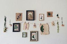 Pressed flowers wall art