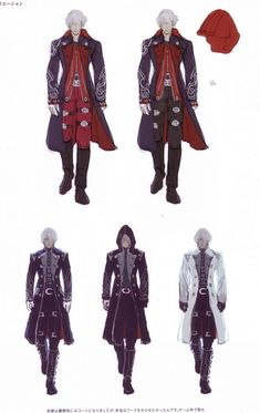 Madhouse, Capcom, Devil May Cry, Nero, Character Sheet conceptual art/design