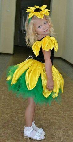 Fantasia de girassol para o Carnaval - - Fasching - Kostüm Fancy Costumes, Dress Up Costumes, Carnival Costumes, Diy Costumes, Halloween Costumes For Kids, Costume Fleur, Bug Costume, Flower Costume, Holiday Party Dresses
