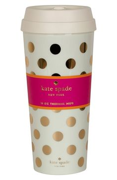 Kate Spade New York Dot Thermal Travel Mug Available At Nordstrom