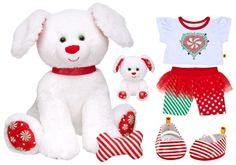 Build a Bear Workshop  Merry Peppermint Holiday Pup Christmas Lot  Retired and Ultra Rare Collectible Set  Brand New with Tags http://www.bonanza.com/listings/New-Build-a-Bear-Peppermint-Pooch-and-Smallfry-Buddies-Pup-Christmas-Holiday-Lot/165621161