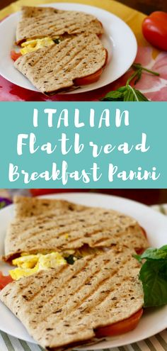 Recipes Breakfast Sandwiches Here's a breakfast you can make on the panini press! This Italian breakfast panini is made with flatbread and is full of protein! Healthy Vegetarian Breakfast, Vegetarian Appetizers, Vegetarian Recipes, Going Vegetarian, Vegetarian Sandwiches, Vegetarian Dinners, Vegetarian Cooking, Breakfast Panini, Italian Breakfast
