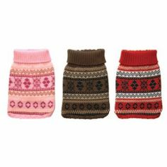 New York Dog Nordic Fair Isle Knit Pattern Mock Neck Sweater - Pink, Medium - http://www.thepuppy.org/new-york-dog-nordic-fair-isle-knit-pattern-mock-neck-sweater-pink-medium/
