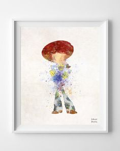 Toy Story Jessie Watercolor Painting Print Poster by InkistPrints