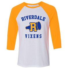 Riverdale Riverdale Vixens Cheerleaders Baseball Tee ($33) ❤ liked on Polyvore featuring tops and t-shirts
