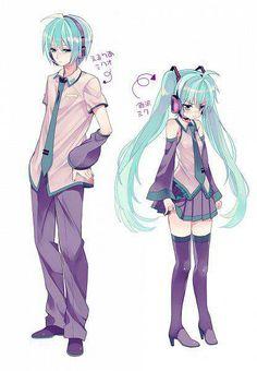 Hatsune Miku and Hatsune Mikuo || TheCherryNeko✿