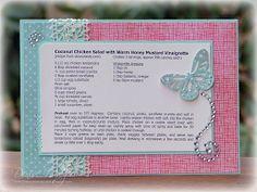 The Paper Landscaper: Coconut Chicken Salad Recipe Card