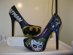 Hey, I found this really awesome Etsy listing at https://www.etsy.com/listing/172725229/kustom-kickz-presents-batman-joker-heels