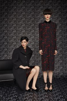 Louis Vuitton Pre-Fall 2013 Fashion Show - Look 1: Janice Alida   Look 2: Ruby Jean Wilson