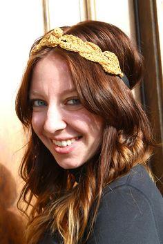 Sans Limites Crochet: The Leaf Hair Wreath DIY