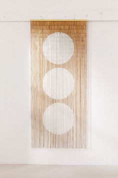 Shop Big Dot Bamboo Beaded Curtain at Urban Outfitters today. We carry all the latest styles, colors and brands for you to choose from right here. Bamboo Beaded Curtains, String Curtains, Drapes Curtains, Beaded Curtains Doorway, Bedroom Curtains, Urban Outfitters, Front Hall Closet, Entryway Closet, Casa Wabi
