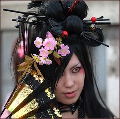 goth glamour | ... galleries  Portrait & Glamour  gothic flower girl, Harajuku Japan