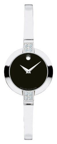 Movado Women`s 605855 Bela Diamond Accented Swiss Quartz Bangle Bracelet Watch $529.00 #bestseller