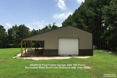 Customer Project Photo Gallery - Pole Barns A collection of project photos from our customers Pole Barn Shop, Pole Barn Garage, Pole Barn House Plans, Pole Barn Homes, Pole Barns, Metal Garage Buildings, Pole Buildings, Shop Buildings, Metal Garages
