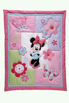 Disney Baby Minnie Mouse Crib Set No Bumper Kids Bedding Bed Infant Quilt Baby, Baby Quilt Patterns, Baby Girl Quilts, Girls Quilts, Girl Nursery Bedding, Girls Bedding Sets, Crib Bedding Sets, Nursery Decor, Disney Babys