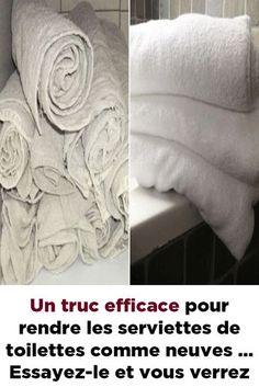 Un truc efficace pour rendre les serviettes de toilettes comme neuves … Essayez-le et vous verrez ! Diy Tie Dye Shirts, Home Organisation, Trendy Tree, Clean House, Good To Know, Life Hacks, Beauty Hacks, Cleaning, Organiser