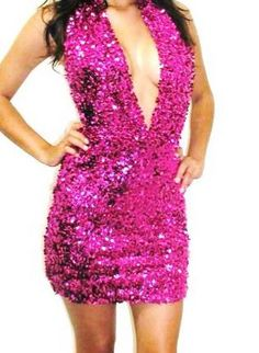 Love the color and the bling but would need to sew the front up about 4 or so inches.