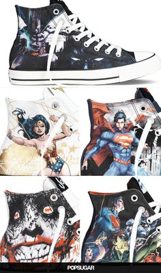 Batman, Wonder Woman, and Superman Are Now on Converse All Stars