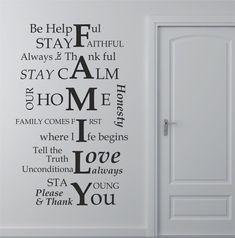 Family House Rules Wall Art Sticker, Decal, Graphic Lv77