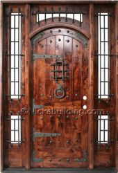 64 Ideas for metal barn door man cave Exterior Entry Doors, Exterior Doors With Glass, House Entrance, Entrance Doors, Entry Door With Sidelights, Craftsman Front Doors, Castle Doors, Rustic Doors, Wooden Doors