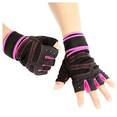 Amazon.com   Unisex Half Finger Gloves - TOOGOO(R)Unisex Sports Fitness  Exercise Training Gym Half Finger Gloves Wrist Wrap for Men Women Sweat  Absorption ... c08c1b03d