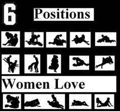 Sex positions that she likes