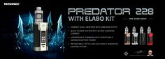 WISMEC Predator 228 with Elabo Kit - Compact, Powerful. Go try and win it at Heaven Gifts!!