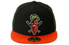 The Clink Room 2Tone Fightin Carrot Fitted Hat - Black, Orange | Hat Club