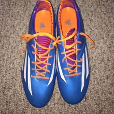 Soccer cleats Adidas soccer cleats. My coach, messi f30,worn once Adidas Shoes