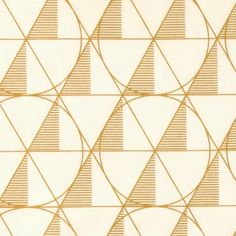 Woven oilcloth white/ gold graphic print