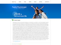 Family Psychologist Website Templates by Delta
