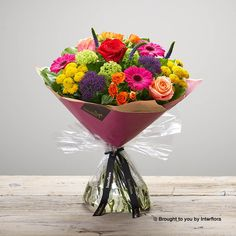 Valentines Kaleidoscope Burst Handtied: Booker Flowers and Gifts Gift Bouquet, Hand Tied Bouquet, I Love You Balloons, Viburnum Opulus, Dozen Red Roses, Pink Rose Bouquet, Rose Gift, Valentines Flowers, Same Day Flower Delivery