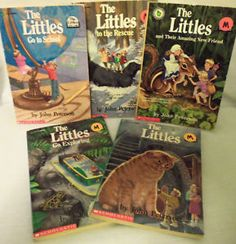 The Littles - books. I actually remember the theme song when they made the cartoon.