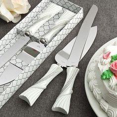 Beautiful Bling Heart Design Wedding Event Cake Knife/Server Set NIB  #Fashioncraft