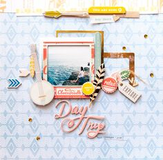 #papercraft #scrapbook #layout. Day Trip Nusa Ceningan Bali by geek gals at @studio_calico