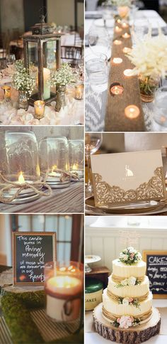 candles ideas to light up rustic weddings