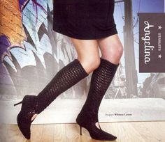 #crochet faux boots, inspired by Angelina, pattern in Pop Goes Crochet book (made with yak yarn!)