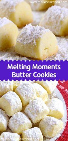 Cookie Desserts, Cookie Recipes, Dessert Recipes, Best Butter Cookie Recipe, Lemon Tea Cookies Recipe, Cannoli Cookies Recipe, Lemon Butter Cookies Recipe, Lemon Cake Mix Cookies, Beignet Recipe