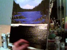 Acrylic painting lesson 8, how to underpaint for a rock wall and waterfalls