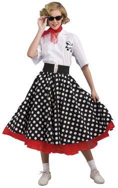 Deluxe Polka Dot 50's Costume