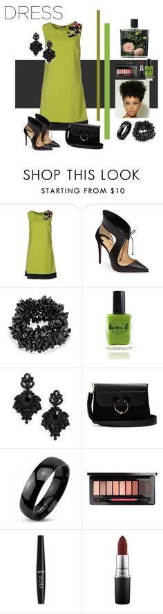 """Sin título #196"" by riuk ❤ liked on Polyvore featuring CristinaEffe, Christian Louboutin, Bling Jewelry, Lauren B. Beauty, Tasha, J.W. Anderson, West Coast Jewelry, NYX, MAC Cosmetics and Nest Fragrances"