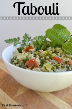 Tabouli | Real Housemoms Our Lebanese side of the family gave us this one!! It's so yummy!!