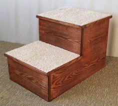 Big Hardwood Pet Step with Carpet