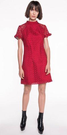 Cue Clothing, News Design, Work Wear, Peplum, High Neck Dress, Short Sleeve Dresses, Lace, Winter, Skirts