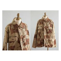 Desert Camo Jacket 1980s Vintage Chocolate by waywardcollection