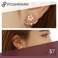Fashion Women Elegant Crystal  Ear Stud Earrings 1 pair Accessories