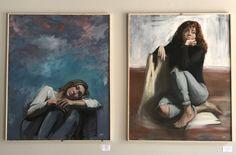 """Heads in the clouds"" & ""red"", Silvia Ilona Klatt"