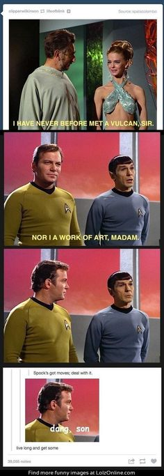 Spock's got the moves...