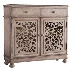 Open fretwork doors give the Hooker Furniture Melange Filigree Hall Chest an airy feel. This hall chest is made of hardwood solids, graced with a thoroughly. Hooker Furniture, Accent Furniture, Painted Furniture, Furniture Ideas, Bali Furniture, Hardwood Furniture, Funky Furniture, Furniture Storage, Repurposed Furniture