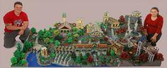 Fondcombe réalisé avec 200 000 briques de Lego